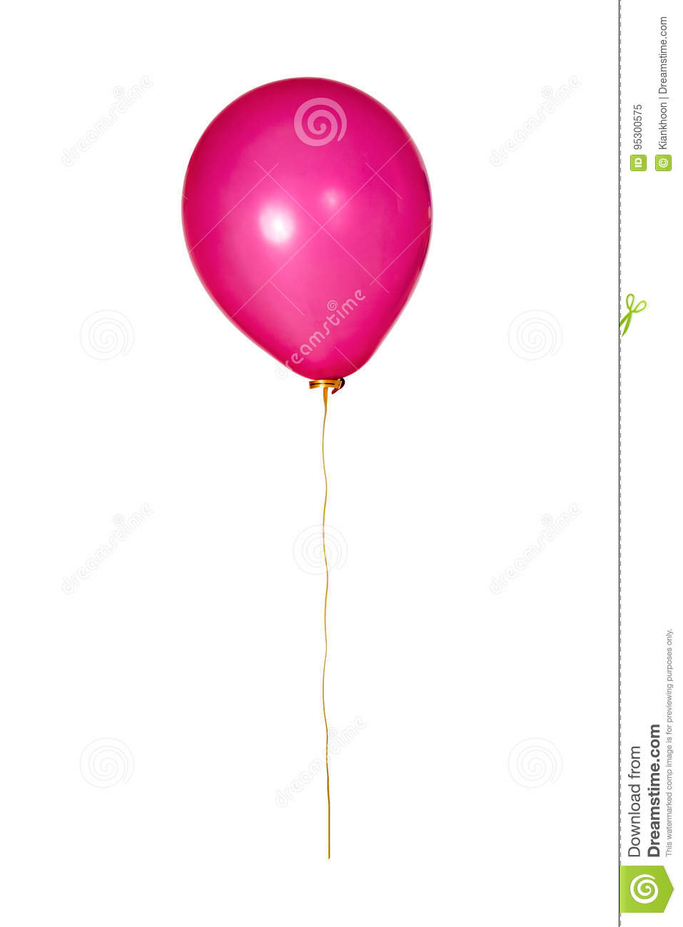 Red Balloon with yellow ribbon