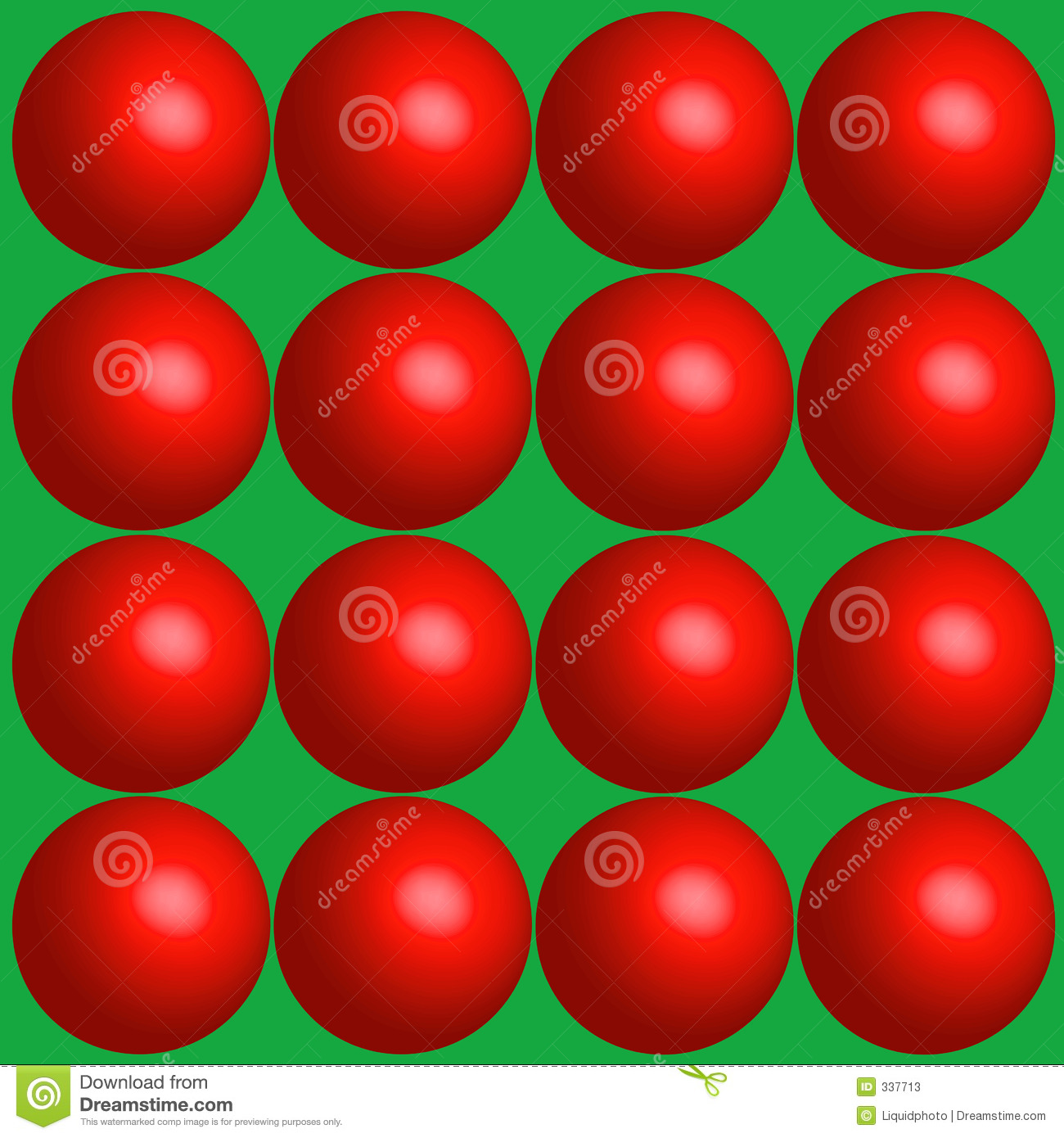 Red Balls Holiday Background