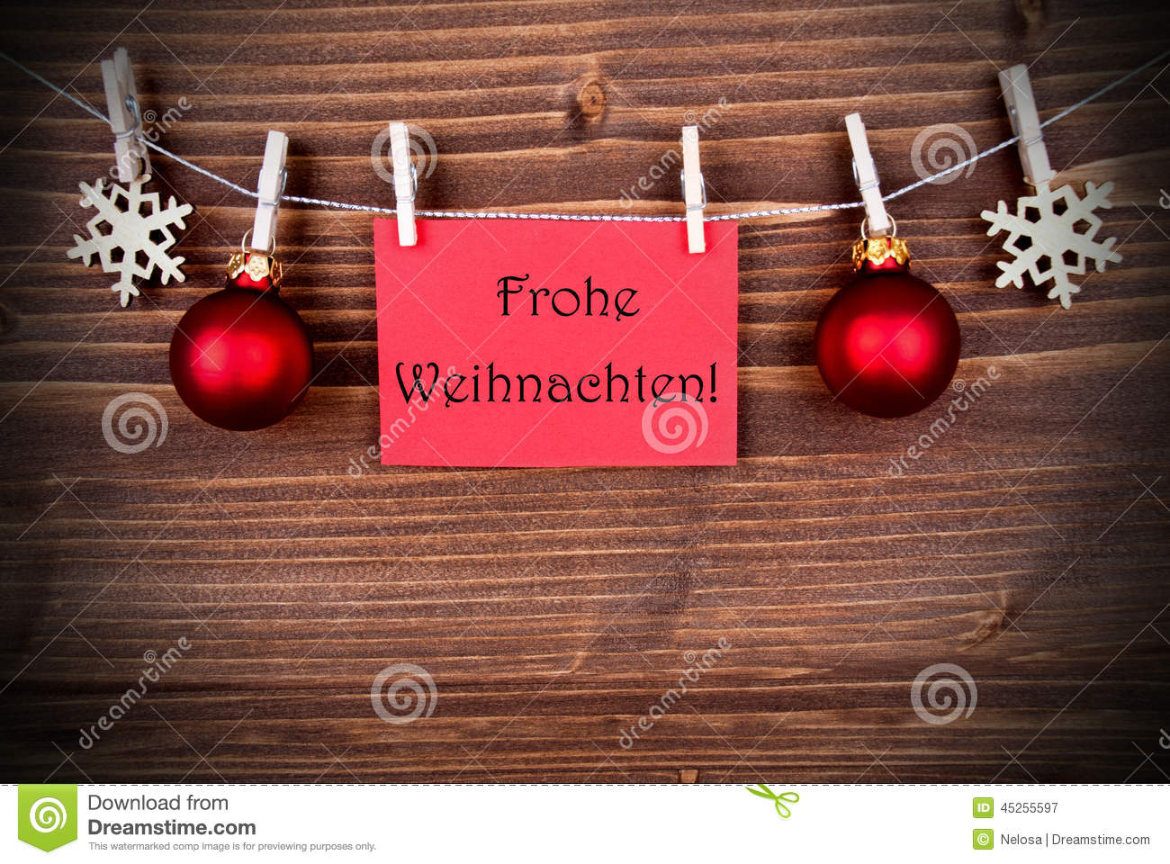 red banner with frohe weihnachten stock image image of. Black Bedroom Furniture Sets. Home Design Ideas