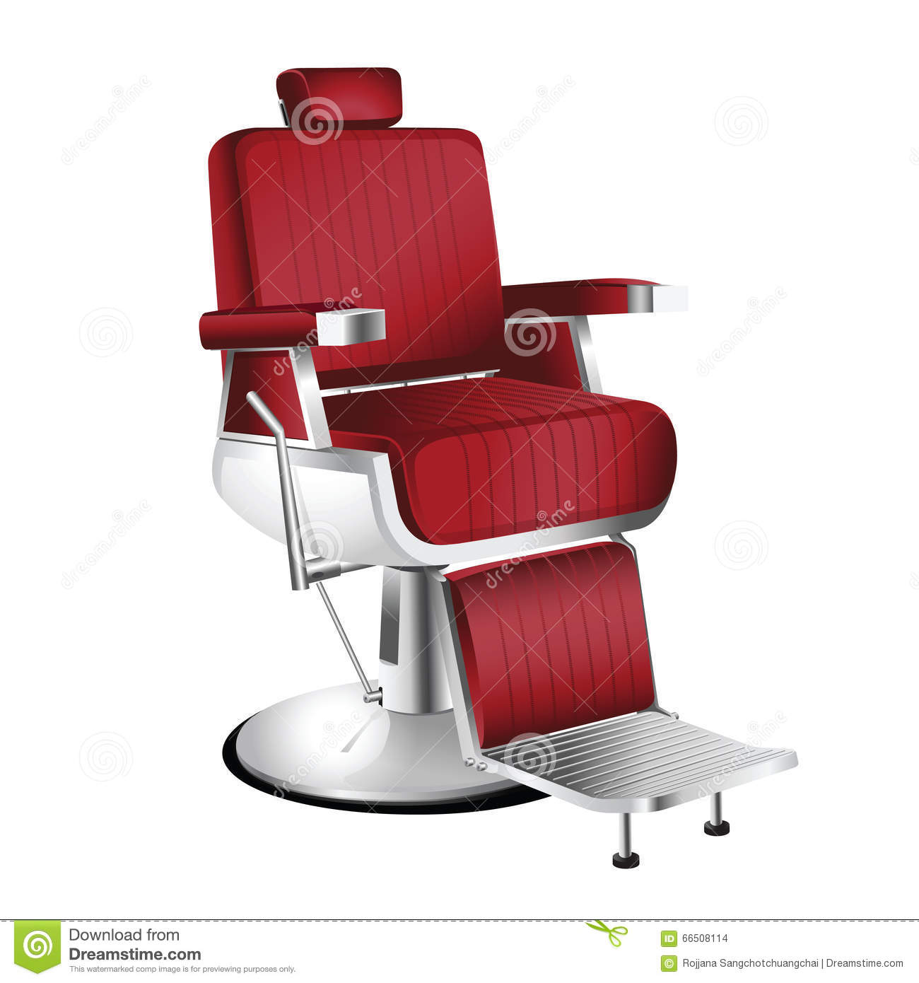 Barber chair vector - Red Barber Chair