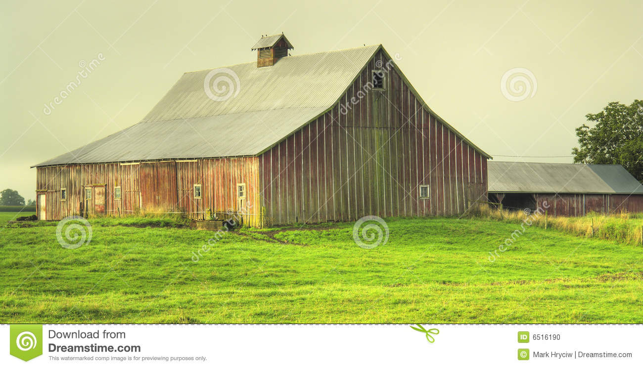 Red Barn Country Farm Stock Photo Image 6516190