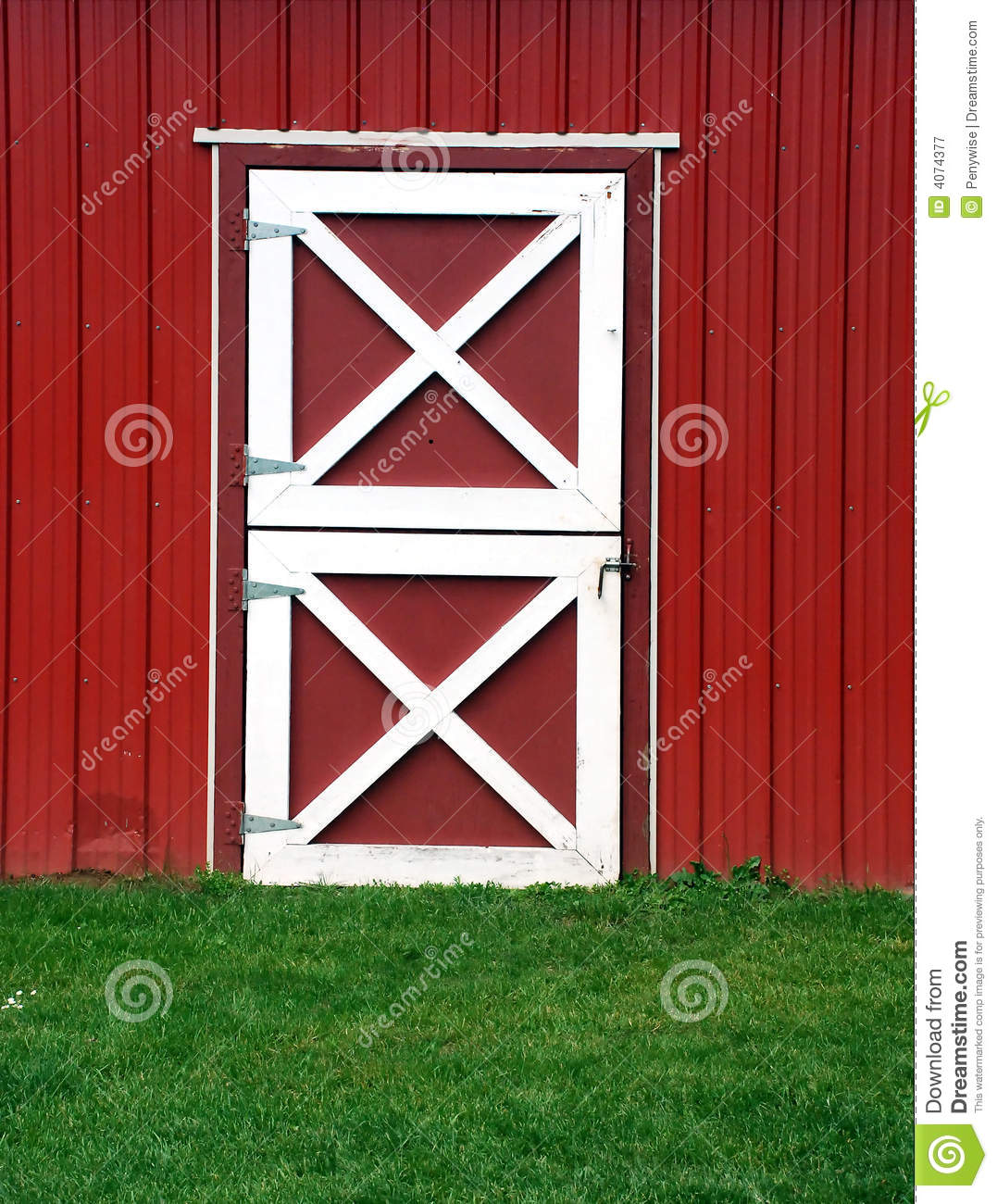 Red Barn Door Stock Image Image Of Stone Half Door