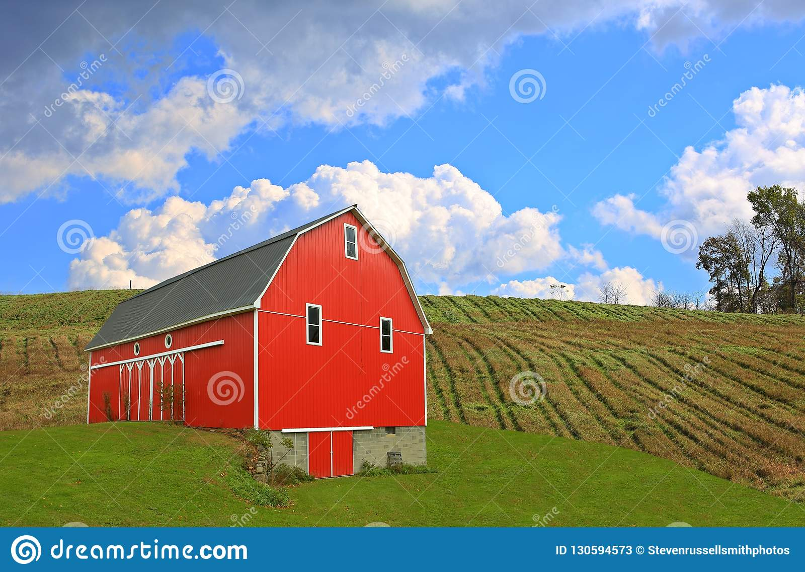 Red Barn in the Ohio Countryside