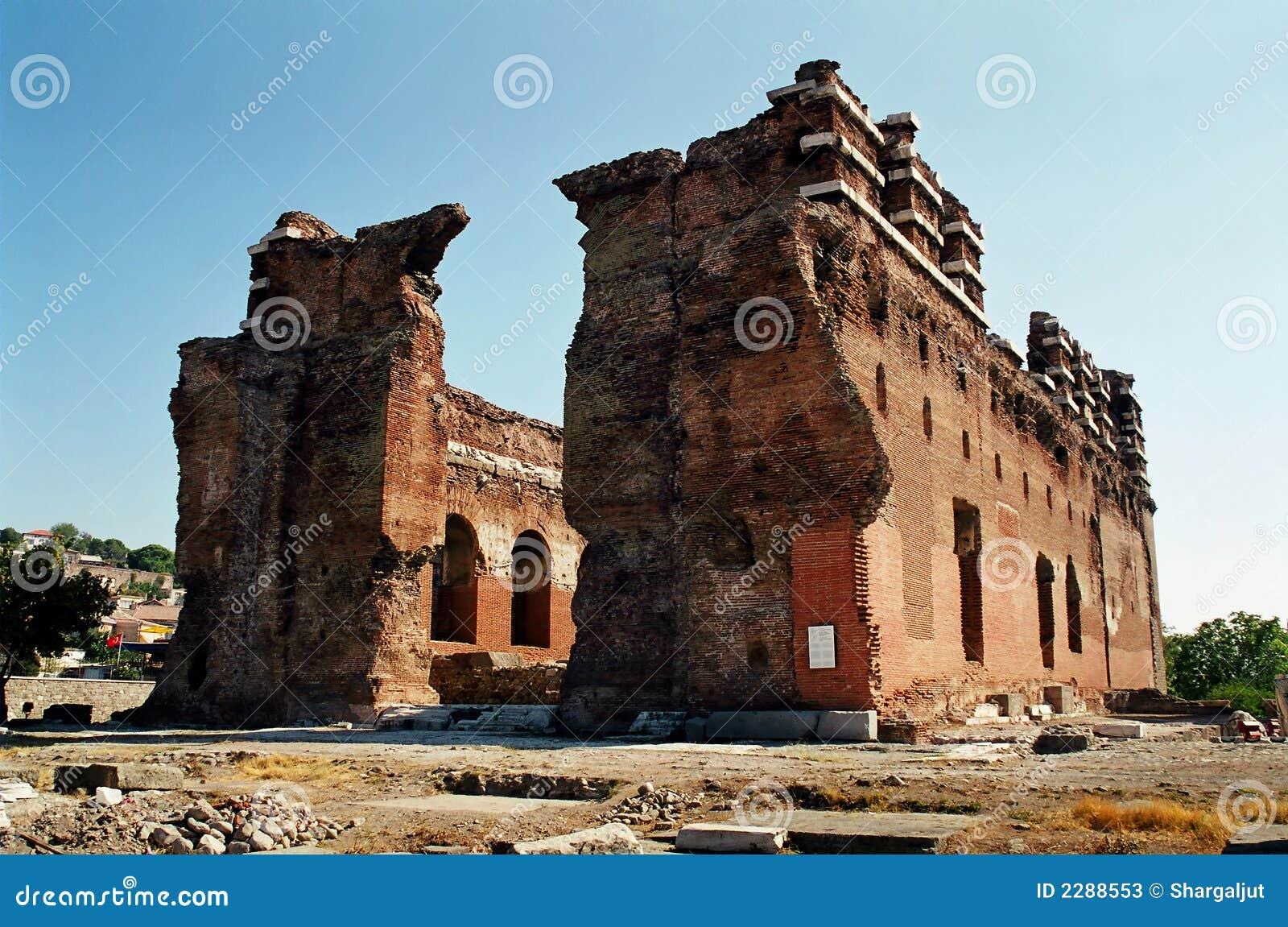Red Basilica In Bergama Stock Photos - Image: 2288553