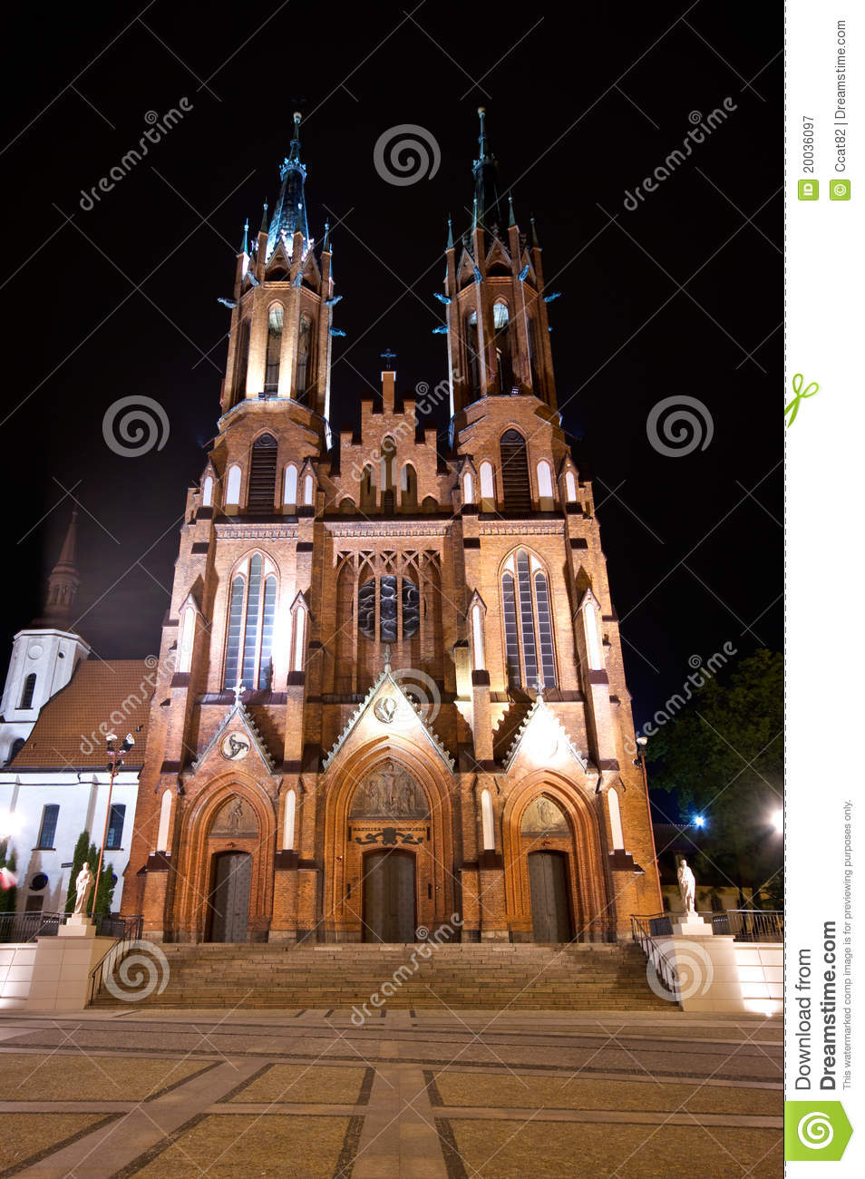 Red Basilica In Bialystok Royalty Free Stock Photography ...