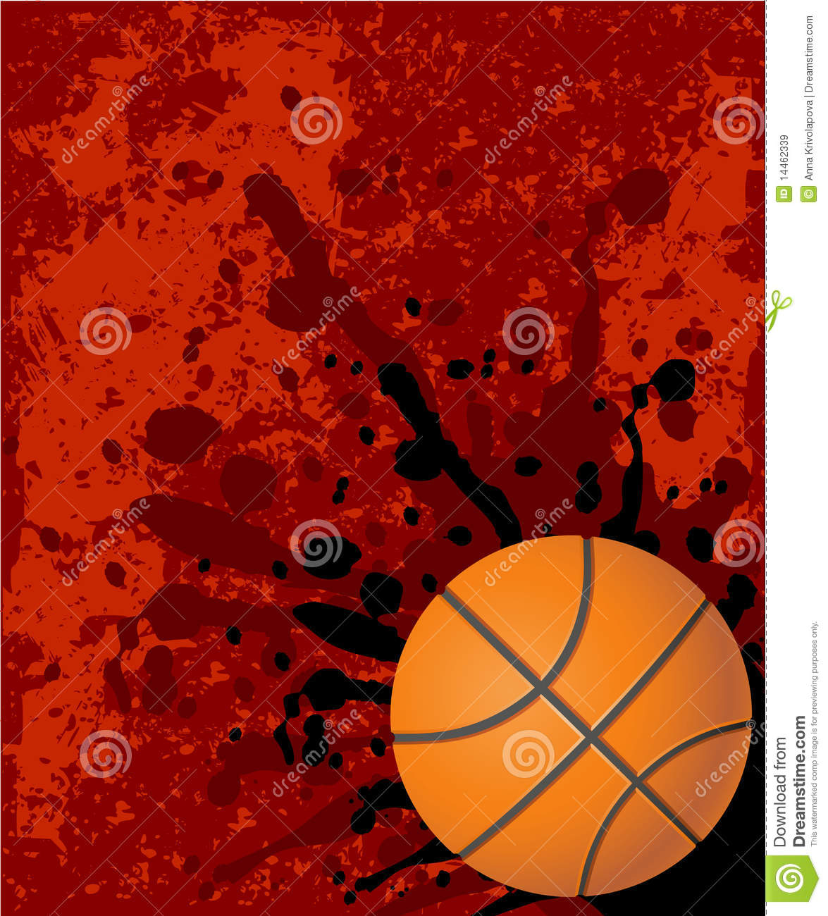 Red basketball background stock illustration. Image of ...