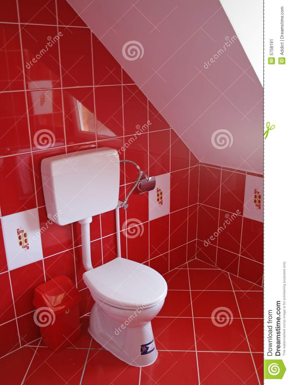 Red bathroom stock image image of handle hard bathrooms 5758191 - Red bathroom pictures ...