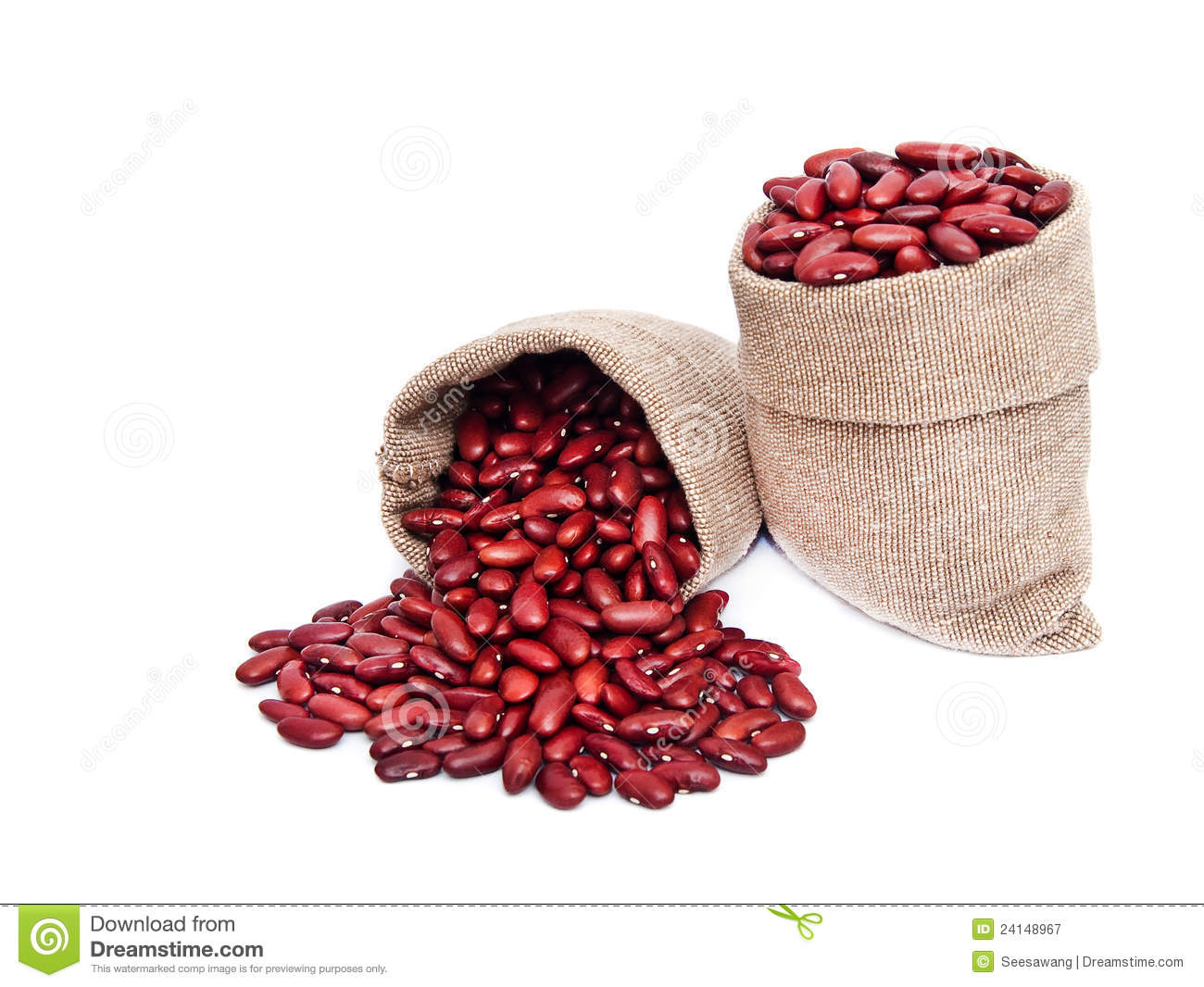 Red Beans In Bag Stock Image Image Of Isolated Crop
