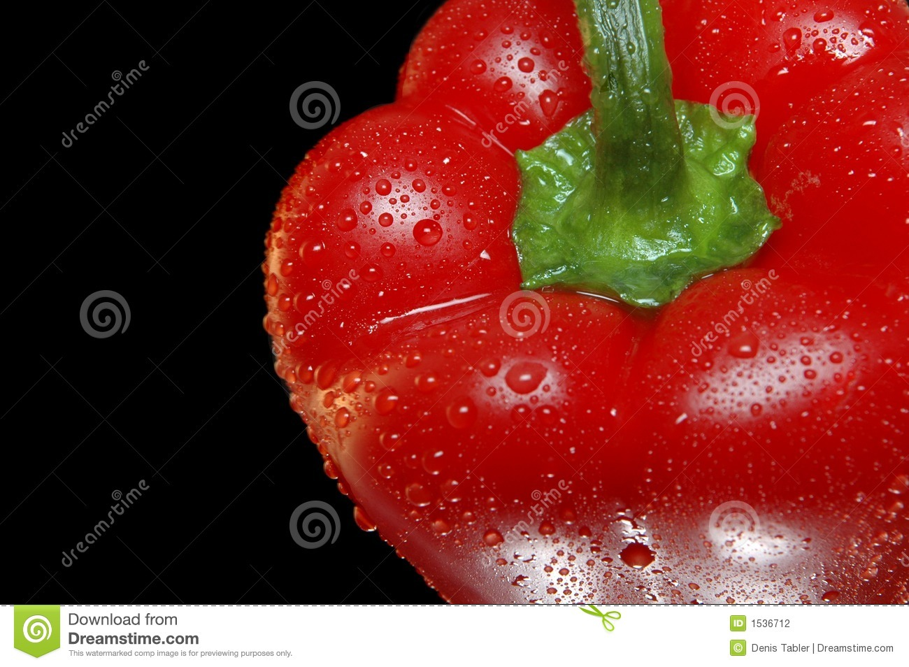 Red bell pepper closeup