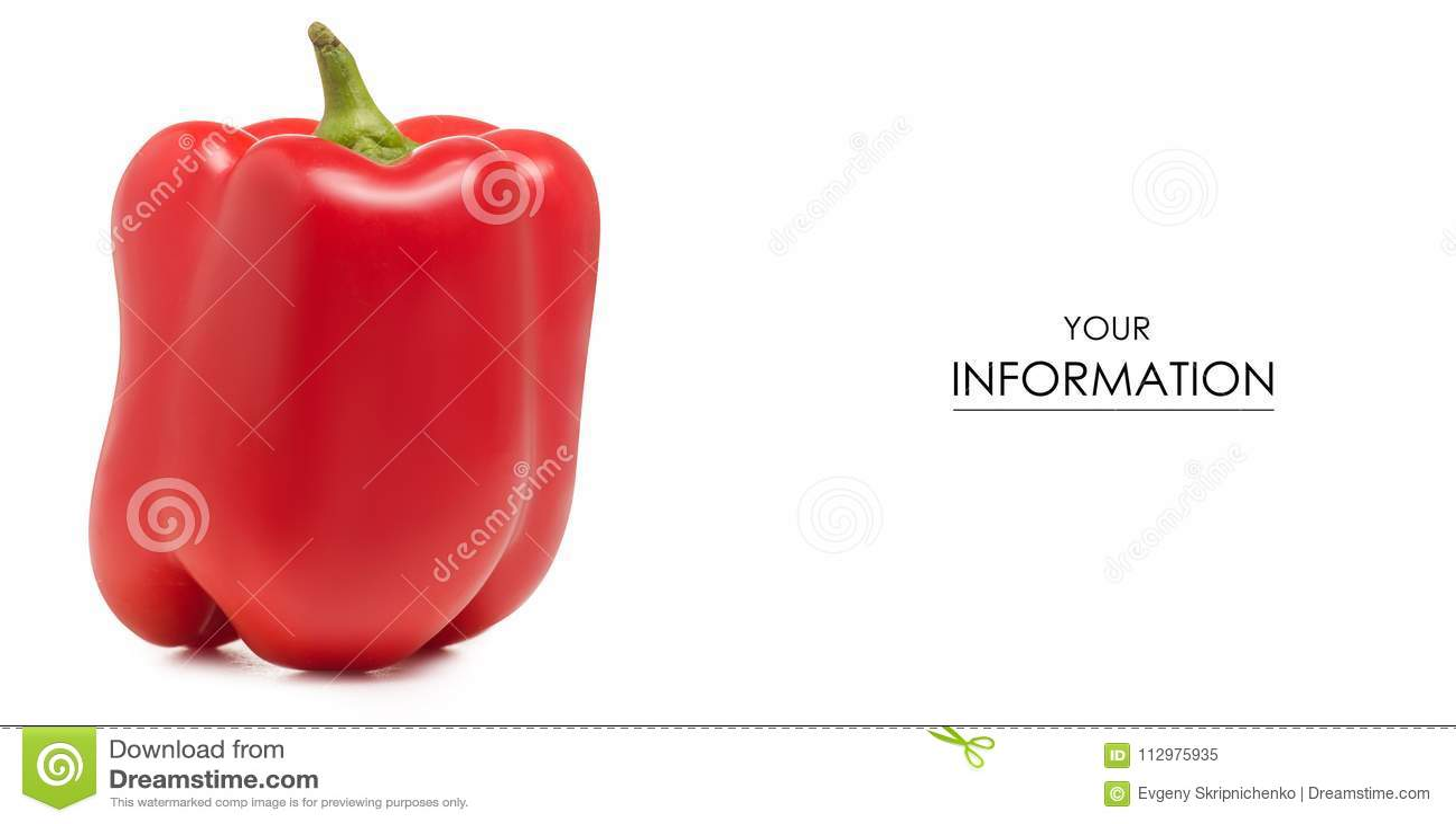 Red bell pepper pattern