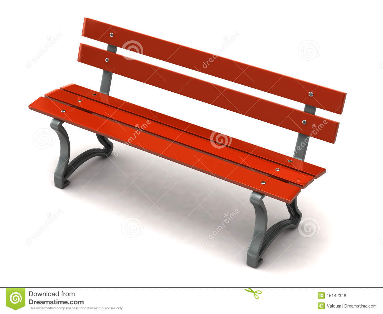 Red Bench Royalty Free Stock Image Image 15142346