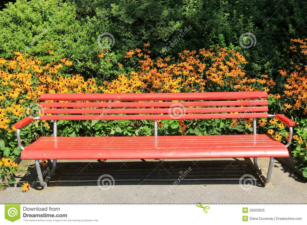Red Bench Royalty Free Stock Photo Image 26563625
