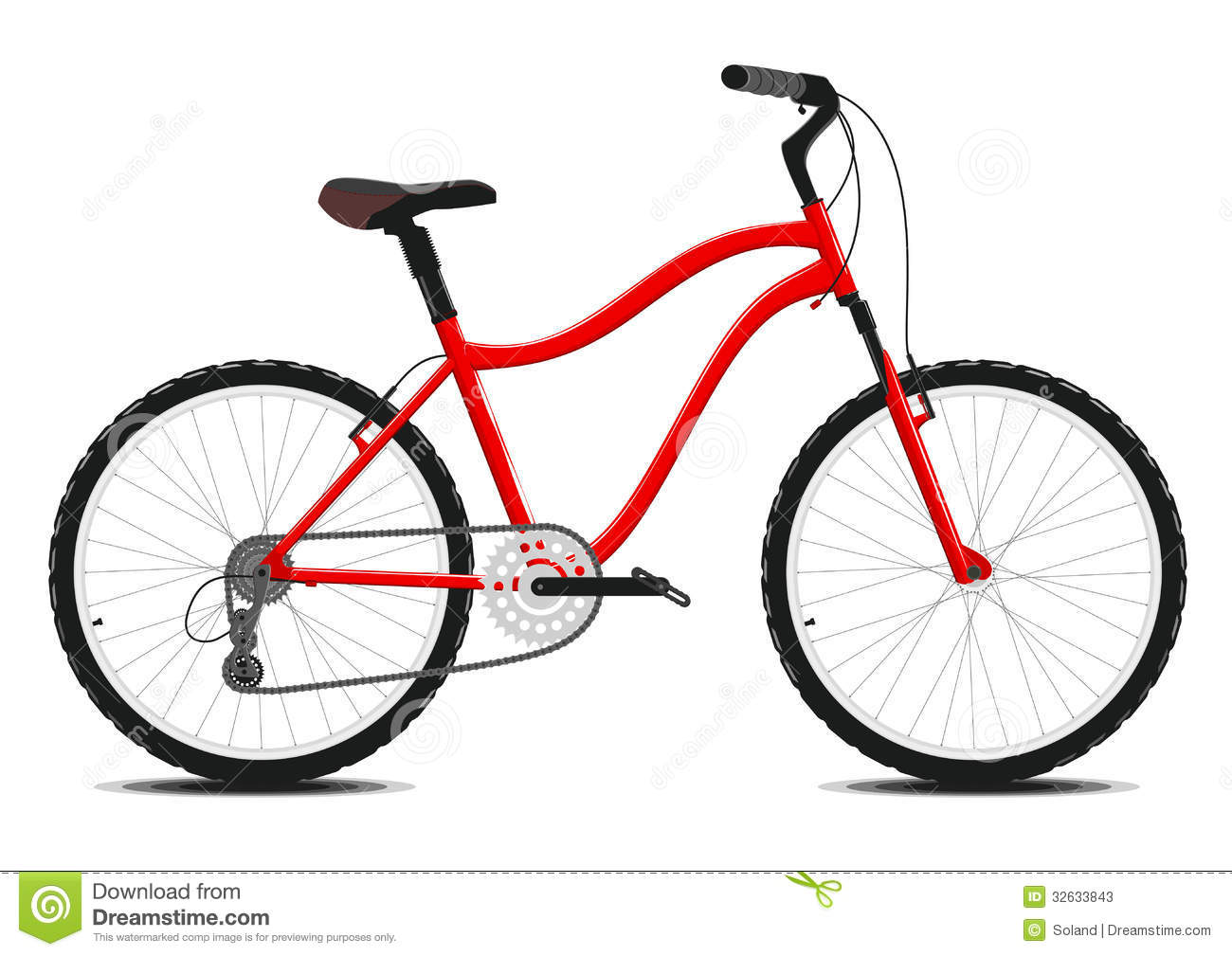 Red Bicycle On A White Background. Vector. Stock Photos ...