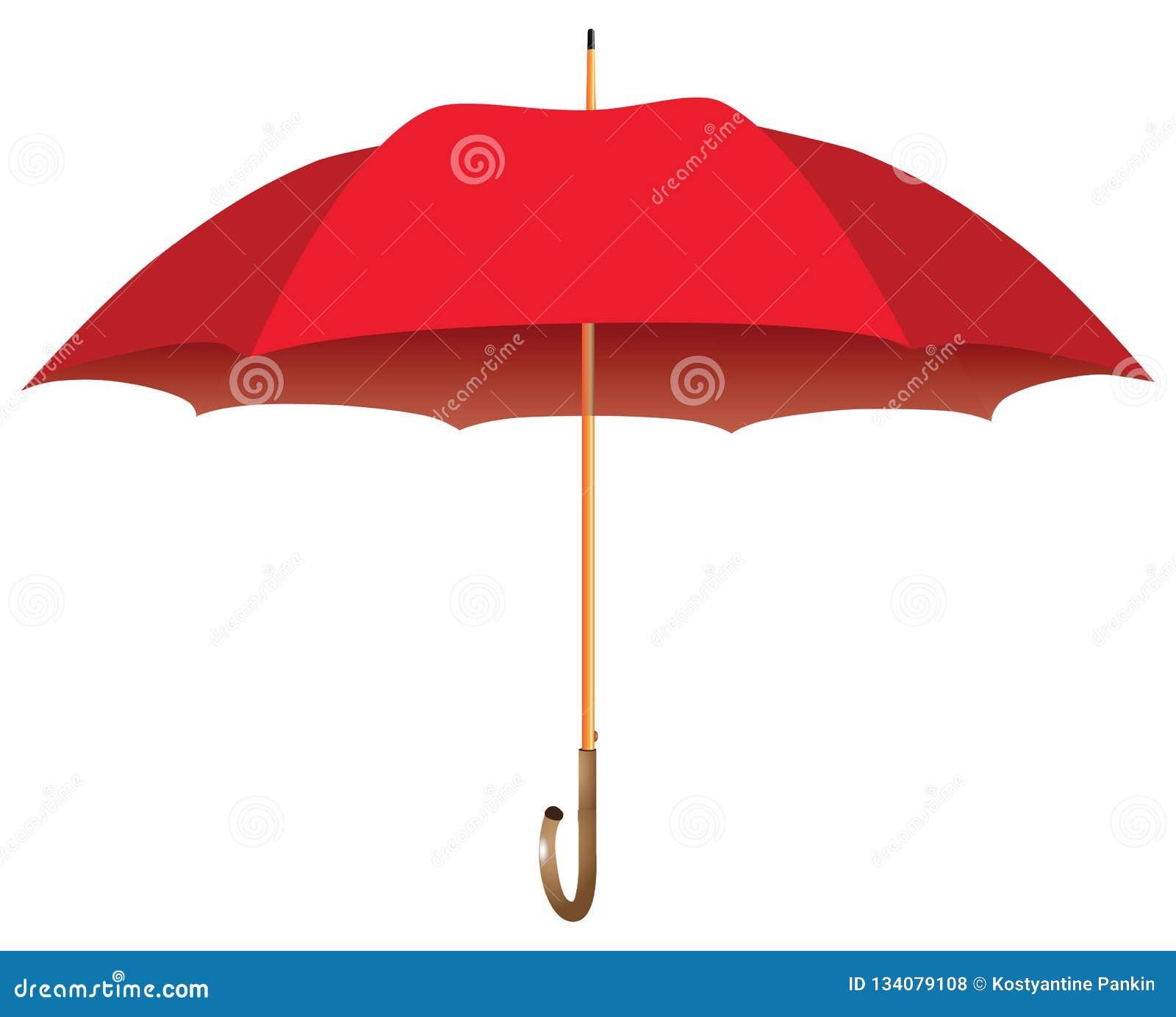 d29b8772f Red big umbrella stock vector. Illustration of open - 134079108
