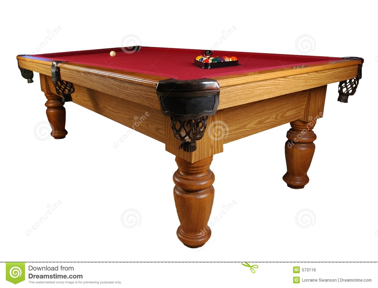 Red Billiards Pool Table
