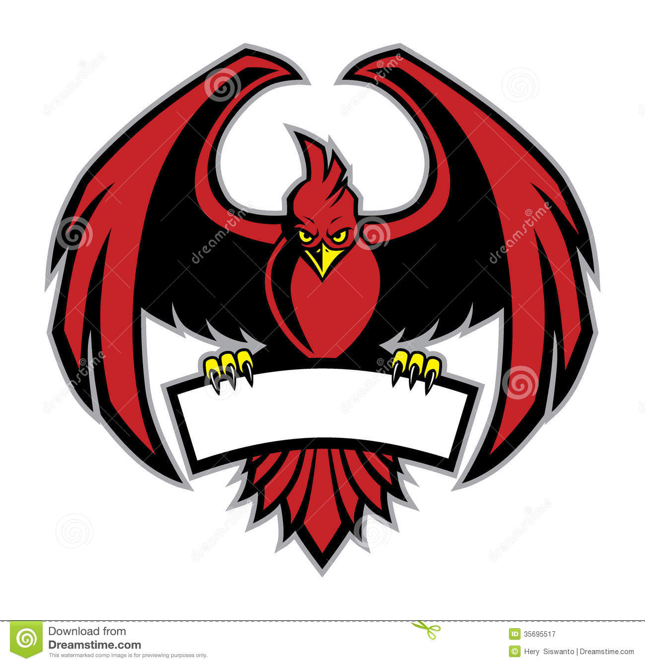 Red Bird Mascot Royalty Free Stock Photography - Image: 35695517