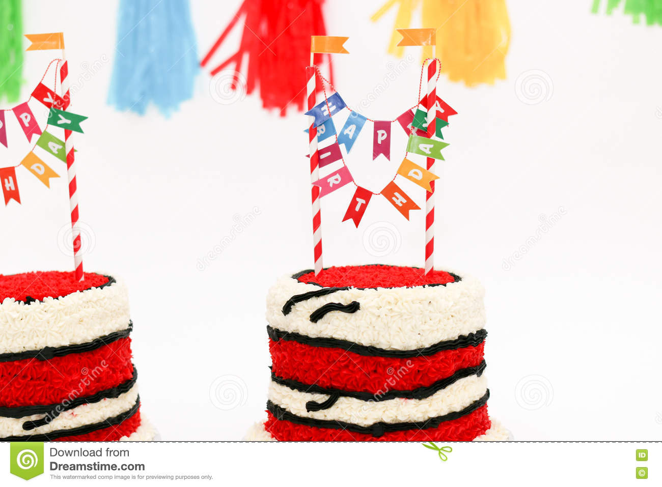 Sensational Red Birthday Cakes For Twins Stock Photo Image Of Candlelight Funny Birthday Cards Online Unhofree Goldxyz