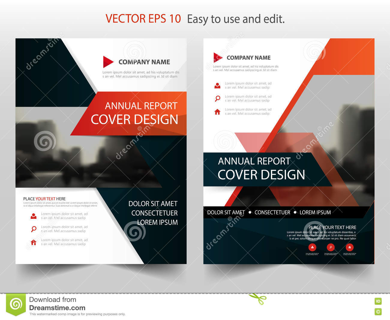 red black abstract annual report brochure design template vector red black abstract annual report brochure design template vector business flyers infographic magazine poster
