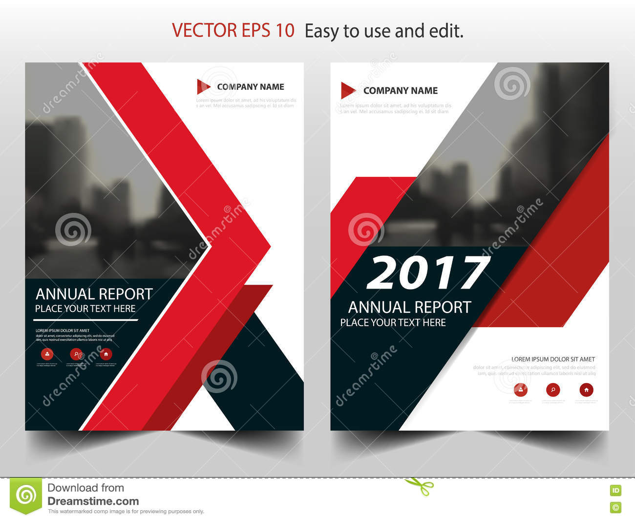 Red Black Abstract Annual Report Brochure Design Template Vector – Annual Report Brochure