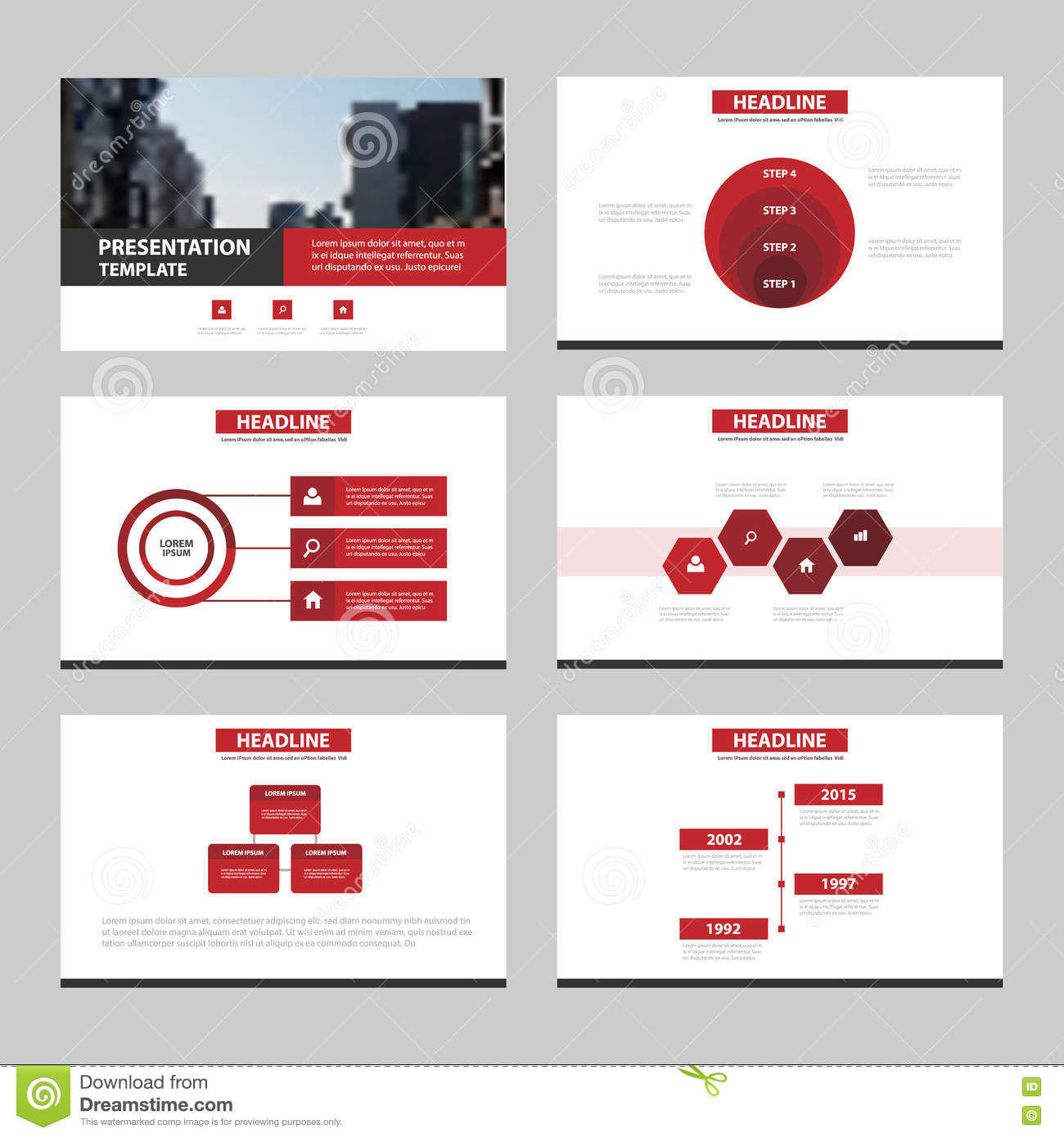 red black abstract presentation templates infographic elements template flat design set for. Black Bedroom Furniture Sets. Home Design Ideas