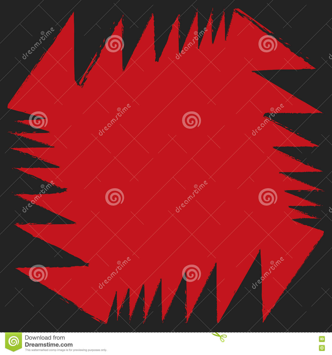 Red Black Angle Aggressive Colorful Strong Abstract
