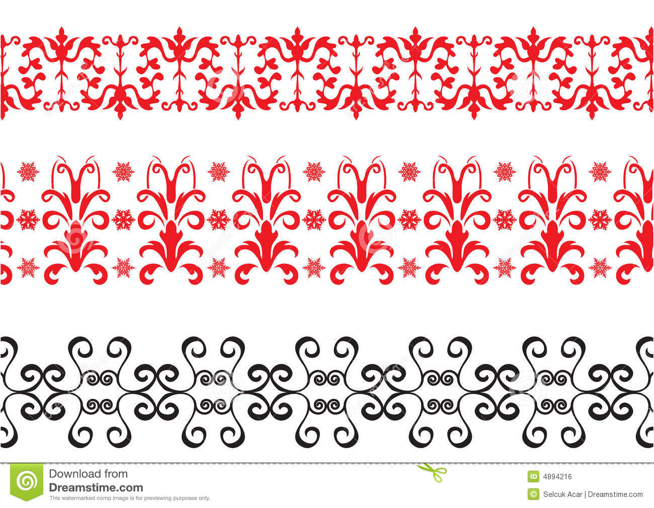 Red And Black Borders Royalty Free Stock Image Image