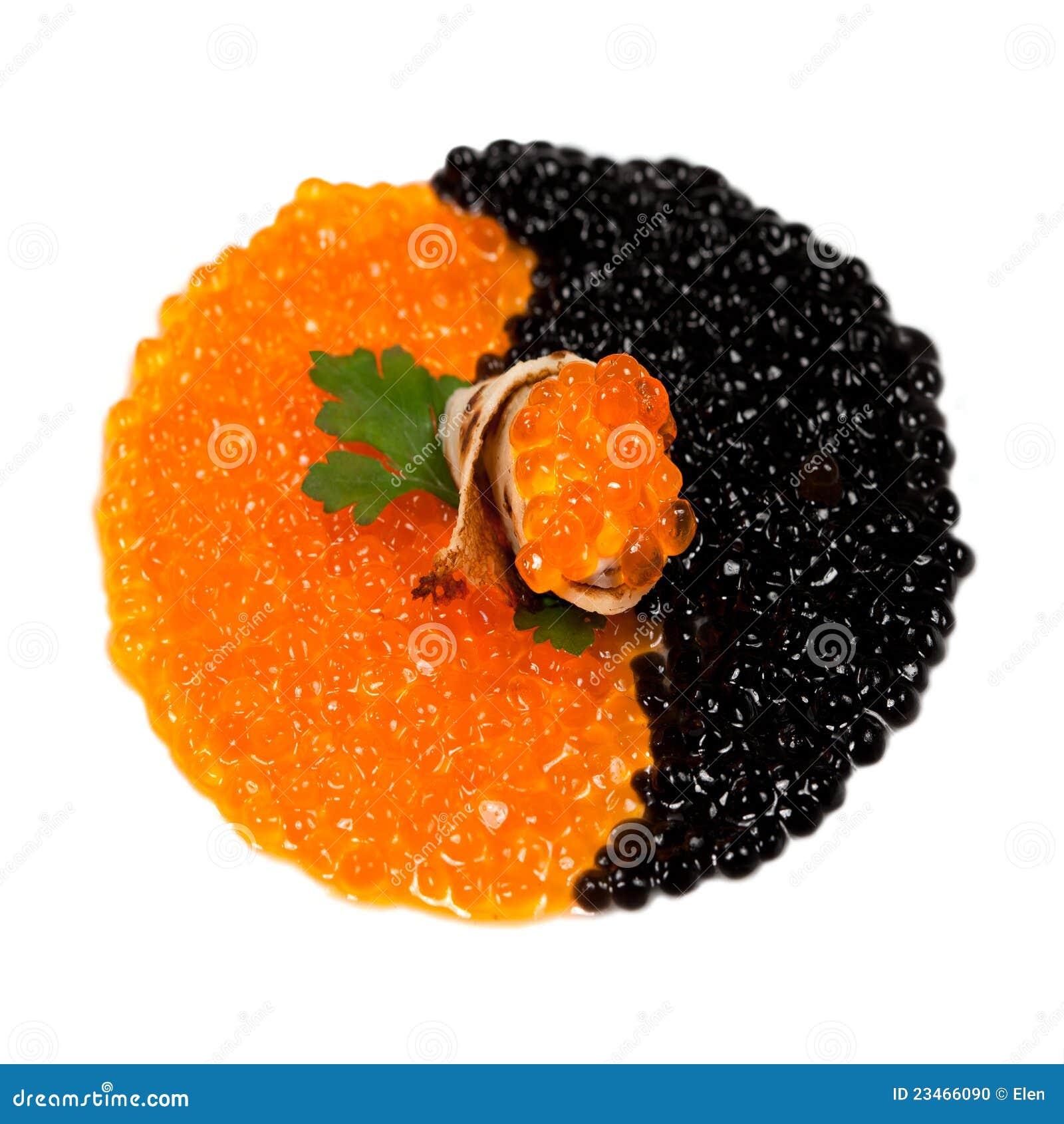 Red and black caviar stock photo image 23466090 for Black caviar fish