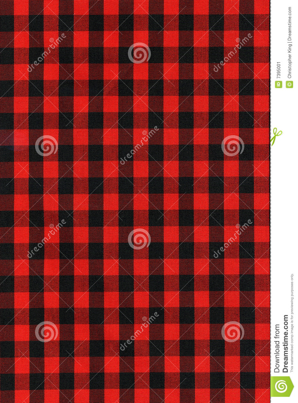 Red And Black Checkered Fabric Texture Stock Image Image