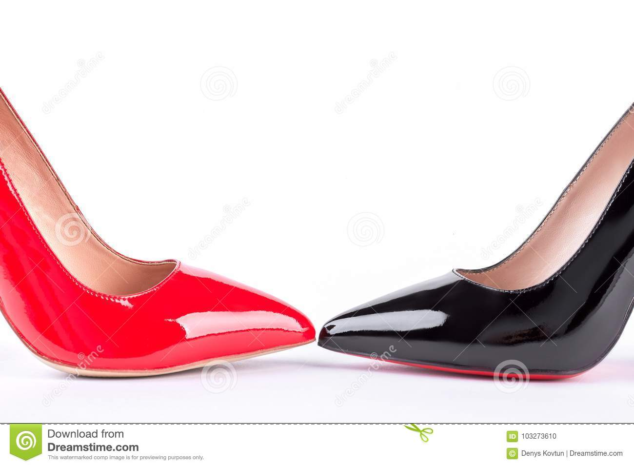 04fde65c53b Red And Black Classic High Heels. Stock Photo - Image of female ...