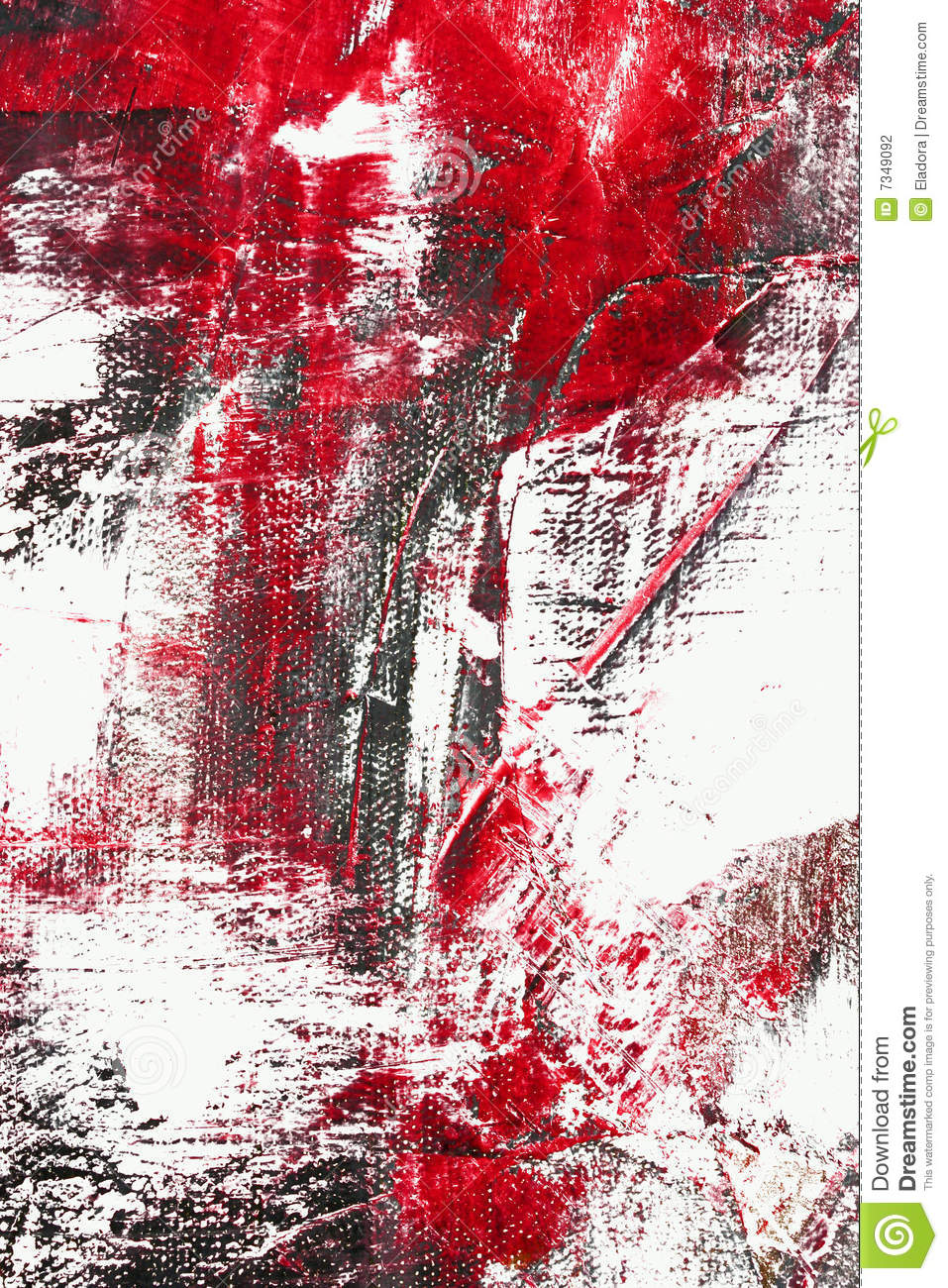 Red and black color abstract stock photography image - Dreaming about the color red ...