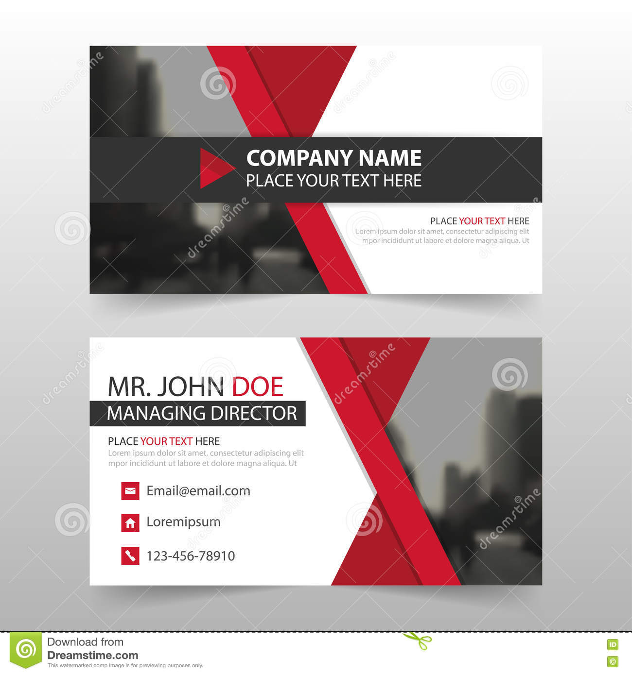 Red black corporate business card name card template horizontal red black corporate business card name card template horizontal simple clean layout design template business banner card for reheart Choice Image