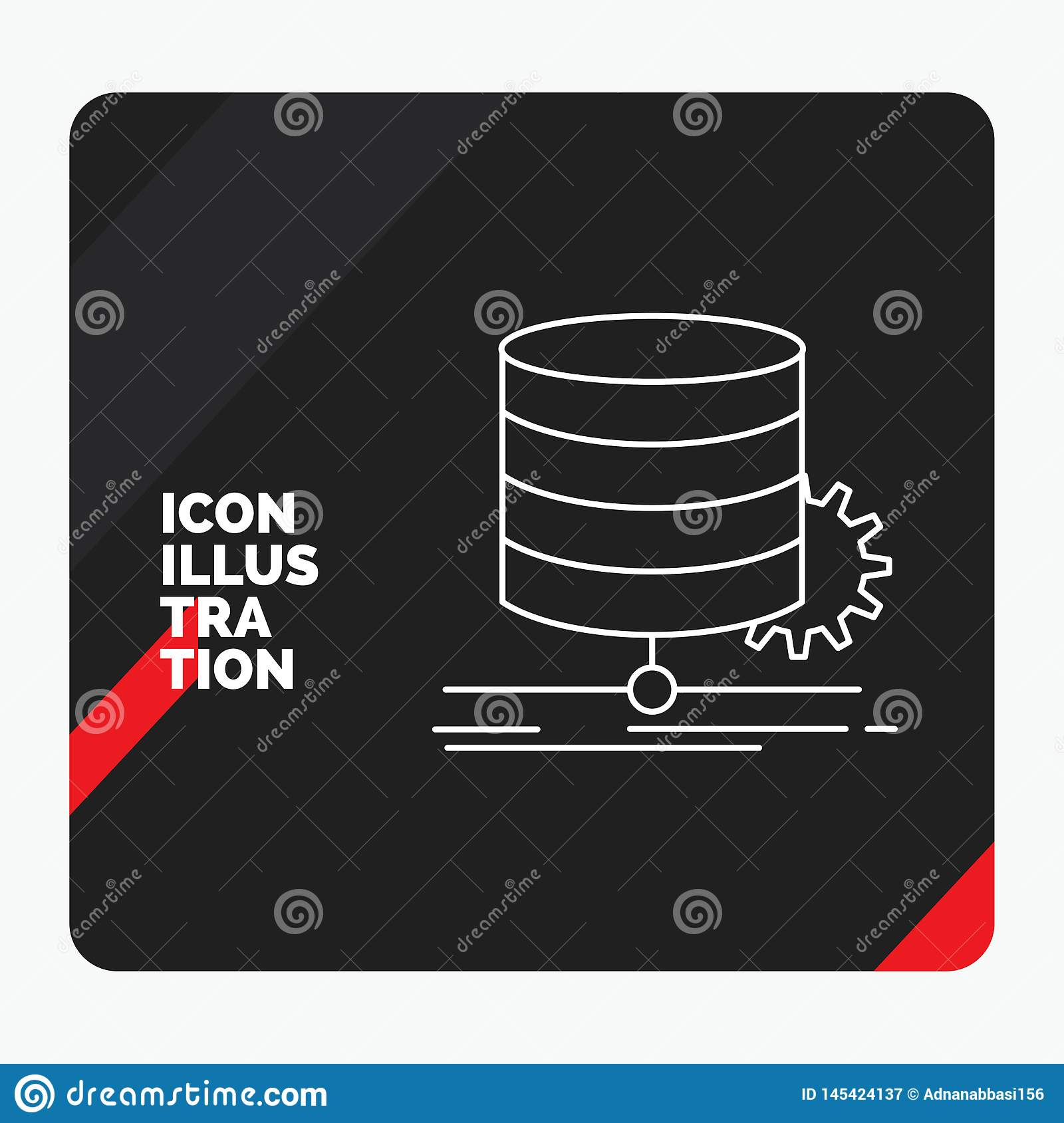 Red and Black Creative presentation Background for Algorithm, chart, data, diagram, flow Line Icon