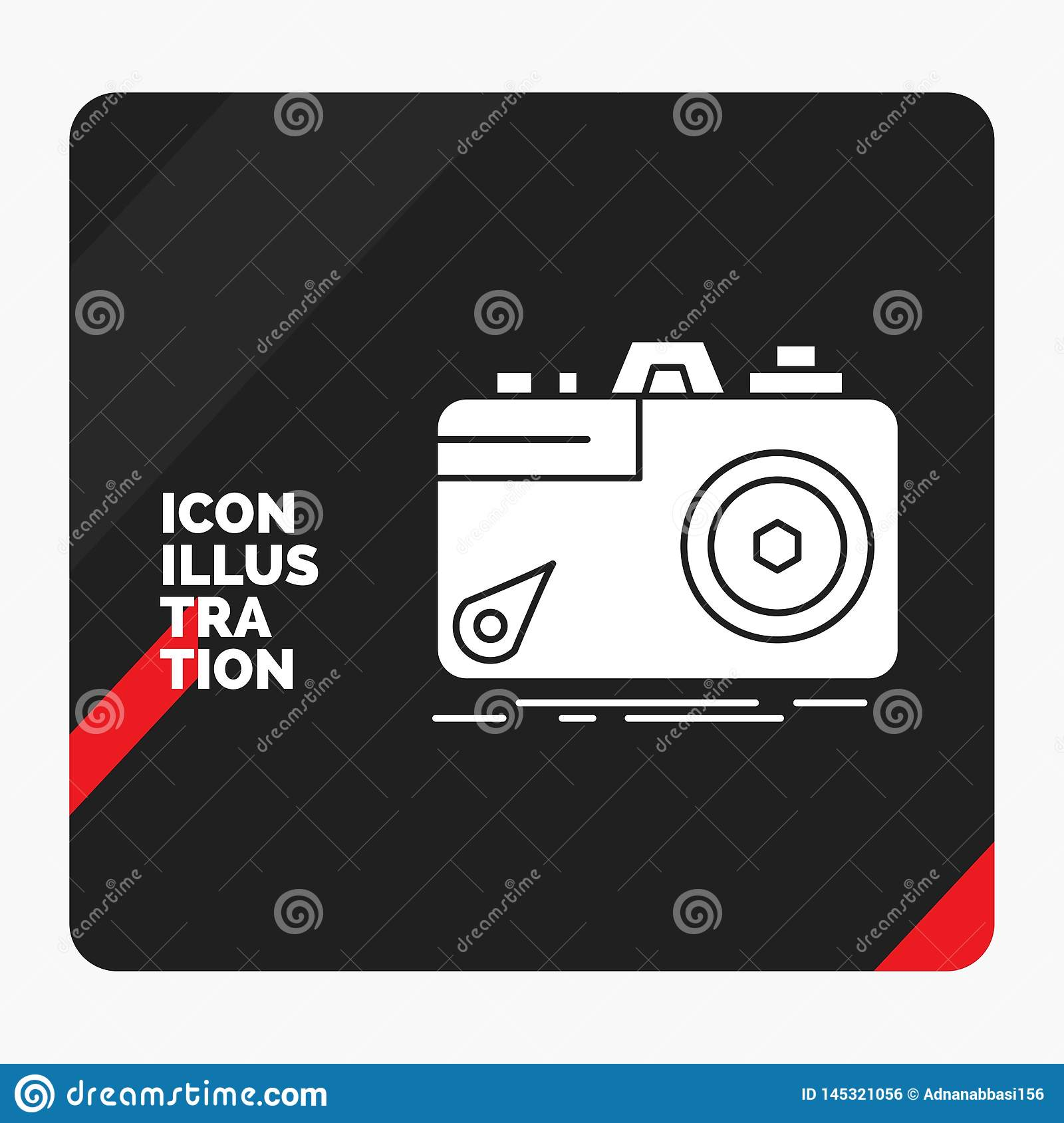 Red and Black Creative presentation Background for Camera, photography, capture, photo, aperture Glyph Icon