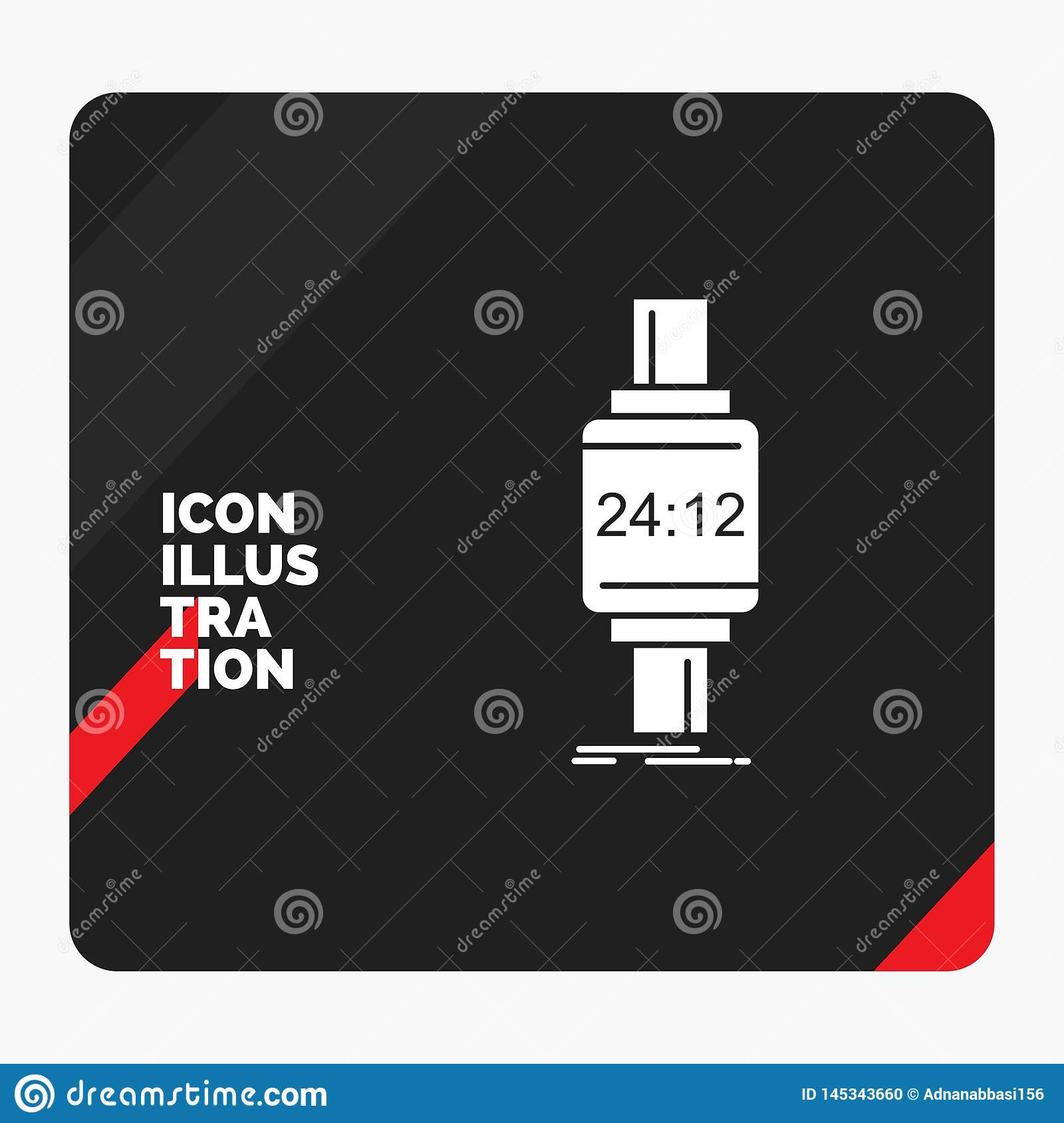 Red And Black Creative Presentation Background For Smart Watch