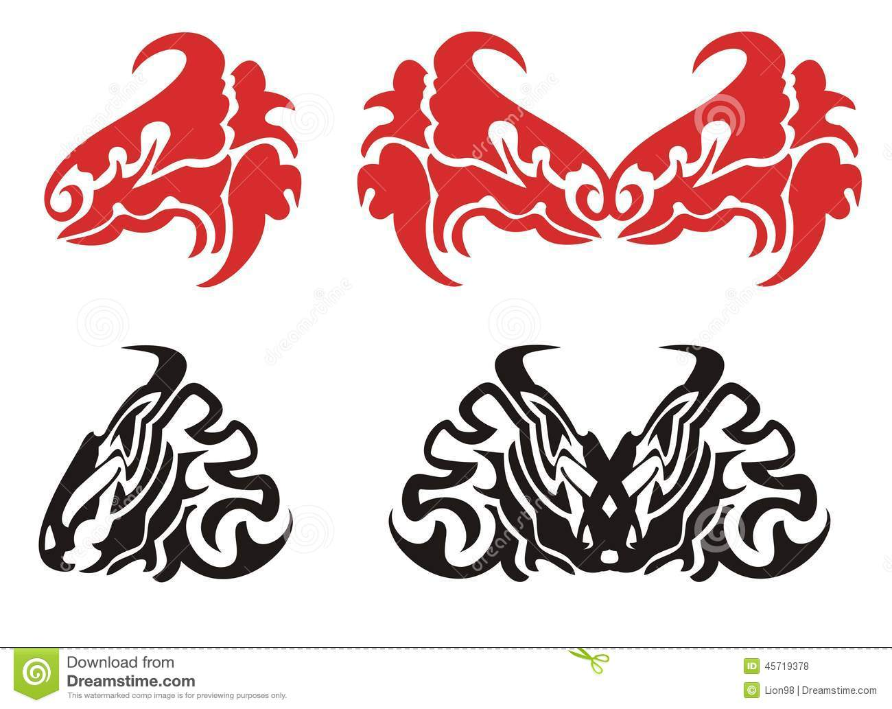 Tribal tattoo dragon stock images download 85 photos red and black dragon head dragons heads butterflies tribal symbols of the dragon heads biocorpaavc Image collections