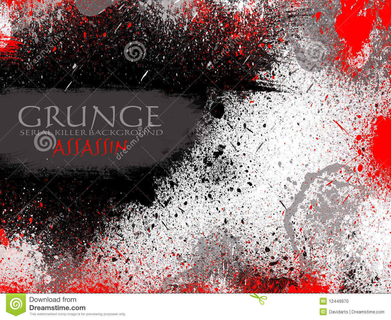 red and black drops grunge background stock illustration