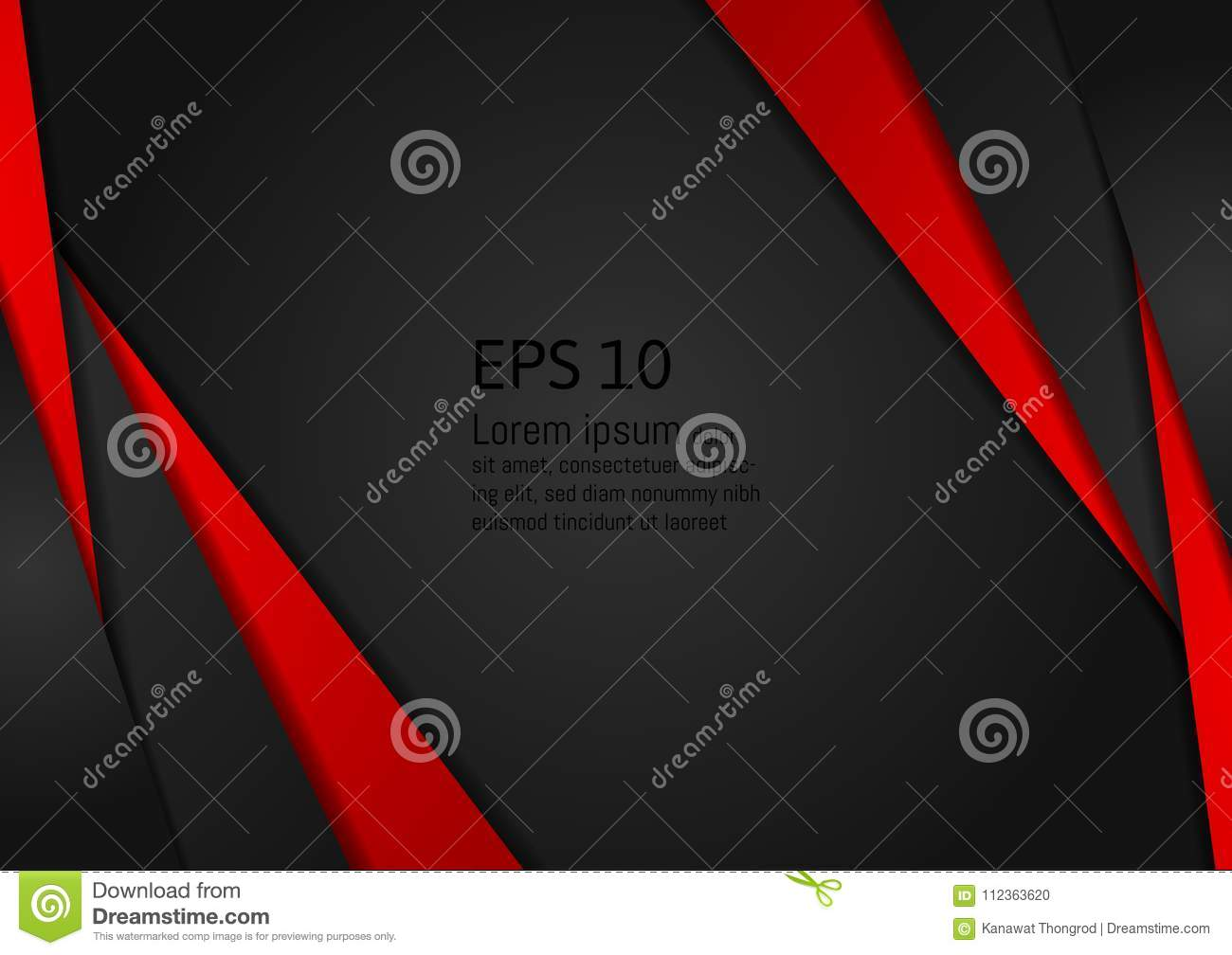 Red and black geometric abstract on background modern design with copy space, Vector illustration