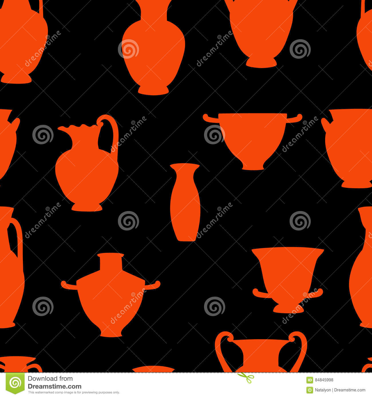 Red and black greek traditional vases seamless pattern vector red and black greek traditional vases seamless pattern vector reviewsmspy