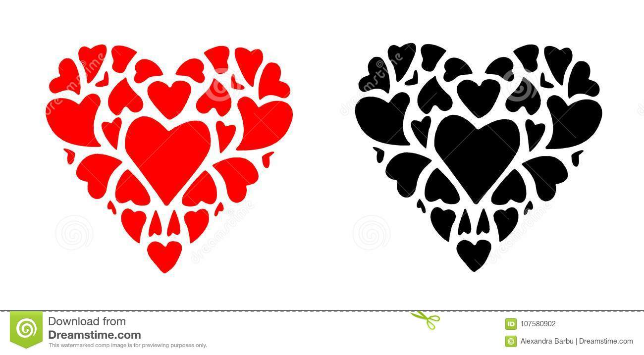 Red and black heart valentine icon love symbol vector stock red and black heart valentine icon love symbol vector buycottarizona Images