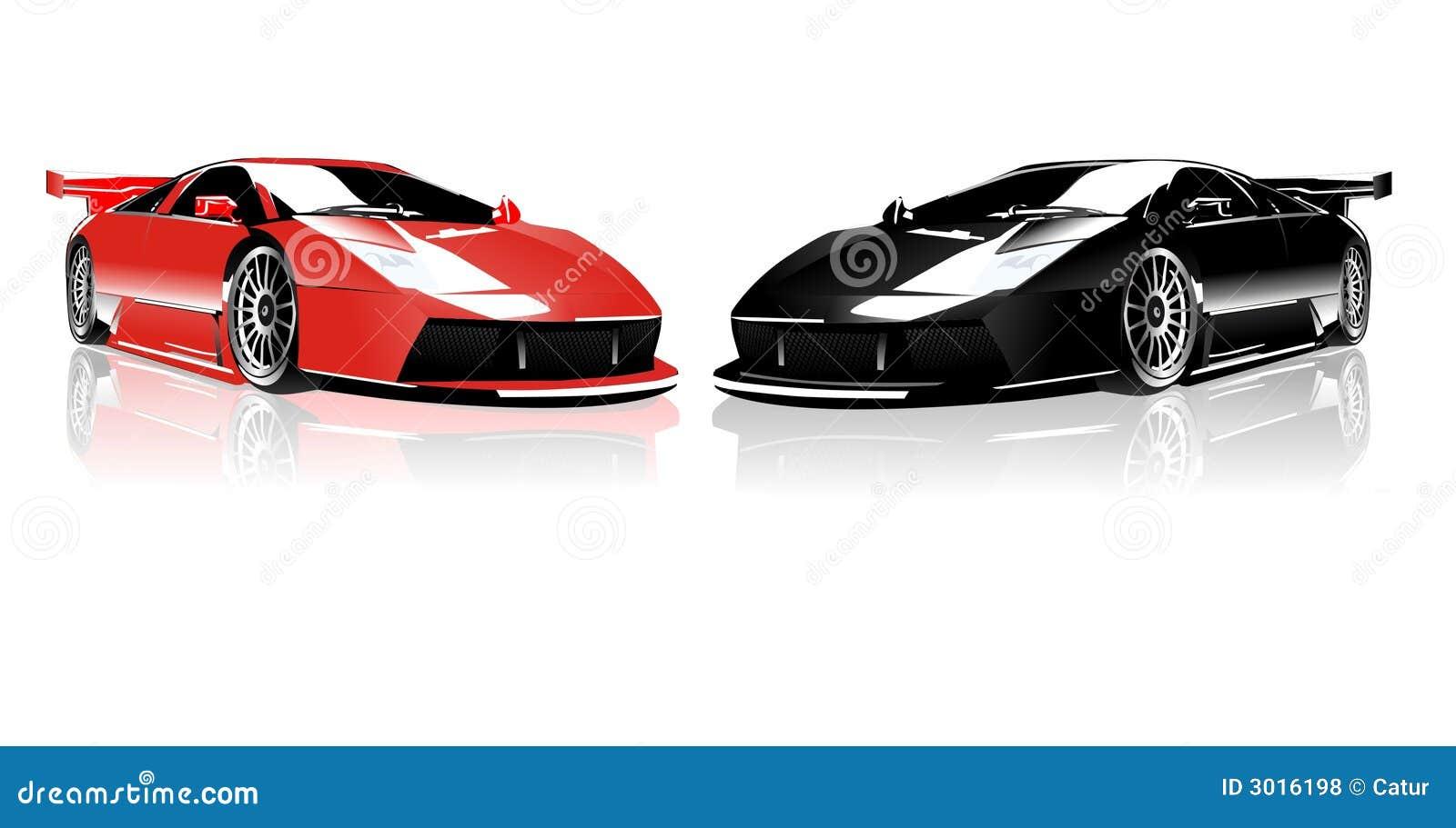 Red And Black Lamborghini Stock Vector Illustration Of Race 3016198