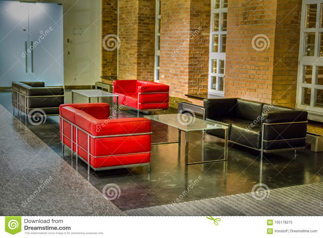 red and black leather sofas stock image image of home house rh dreamstime com red and black leather sofas gumtree Red Leather Sofa and Loveseat