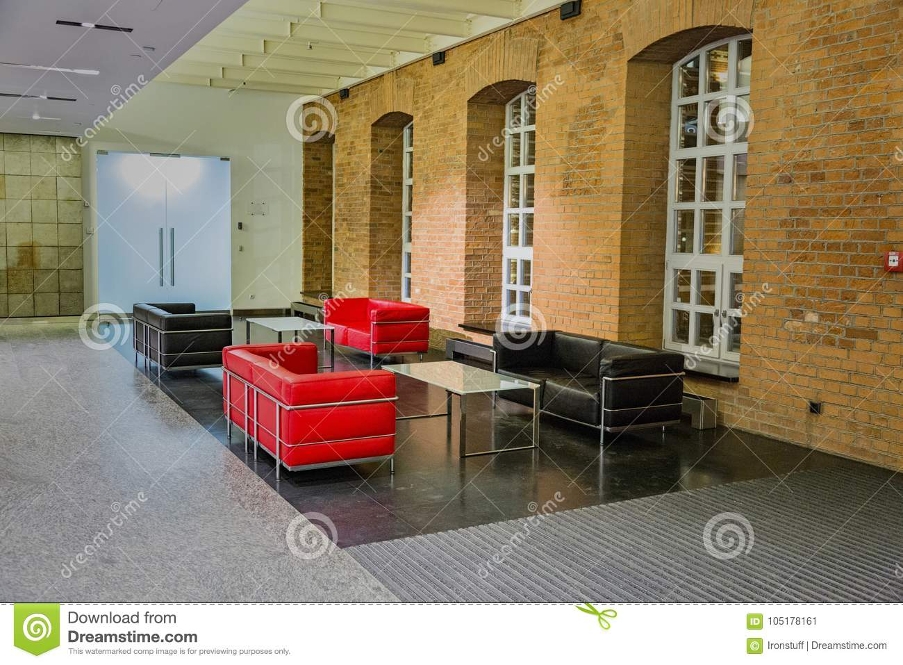 Cool Red And Black Leather Sofas Stock Image Image Of Comfort Pabps2019 Chair Design Images Pabps2019Com