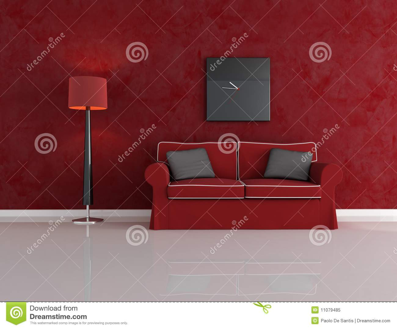 Red And Black Living Room Royalty Free Stock Photo Image 11079485