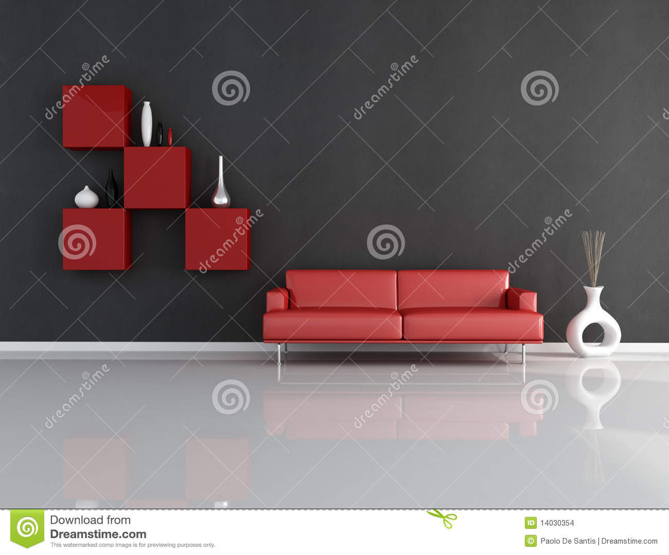 Red And Black Lounge Stock Images Image 14030354