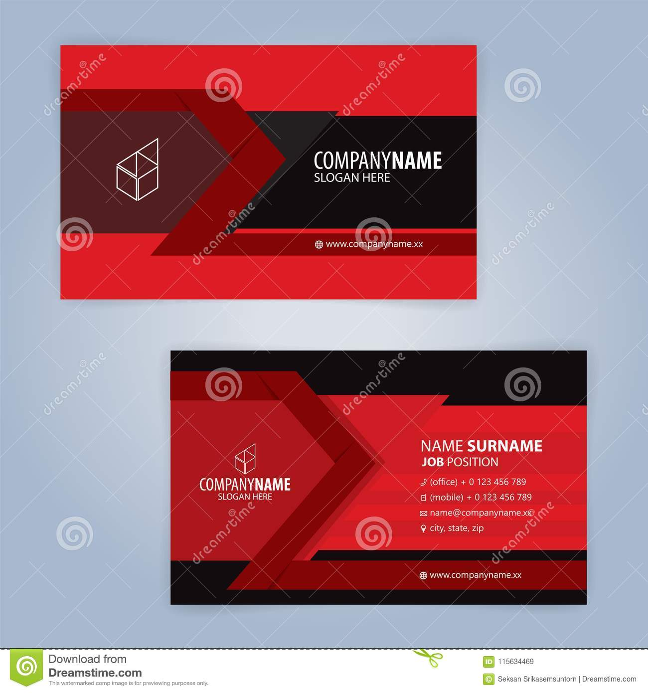 Red and black modern business card template stock vector red and black modern business card template illustration vector 10 accmission Image collections