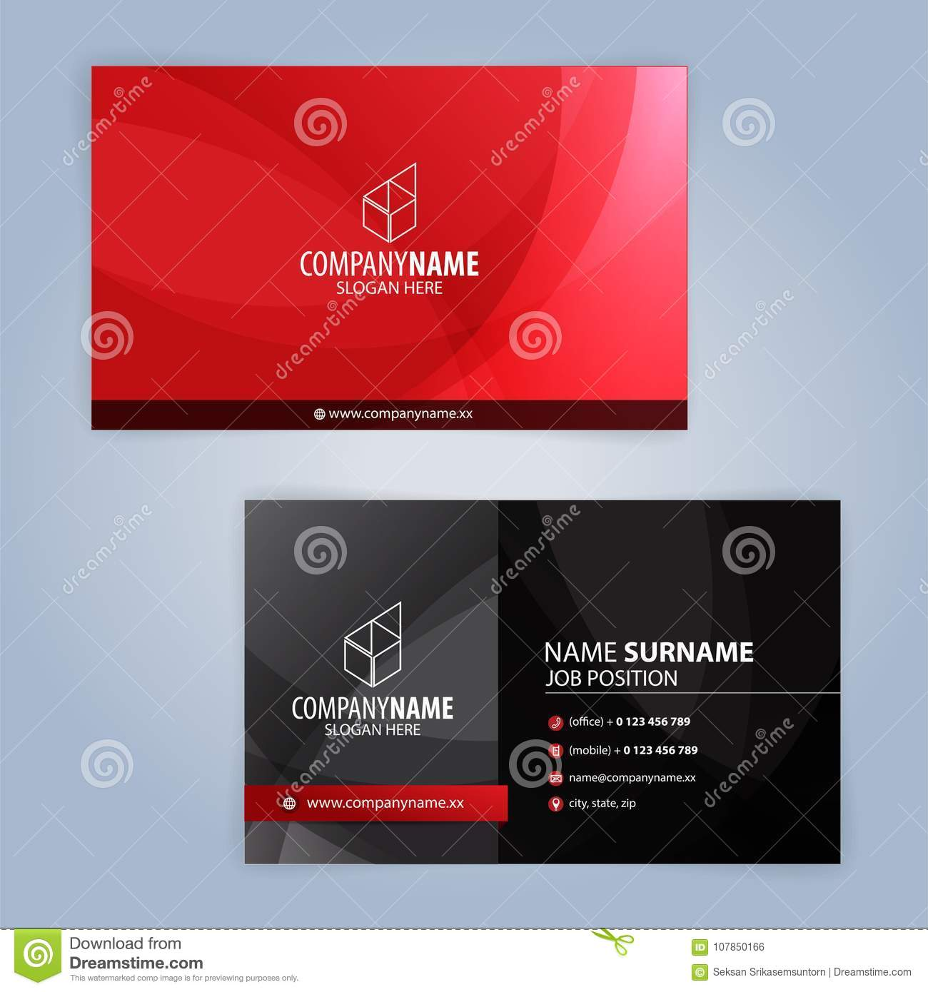 Red and black modern business card template stock vector download red and black modern business card template stock vector illustration of office card cheaphphosting Image collections