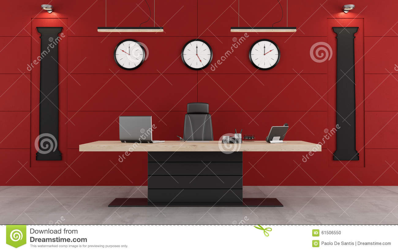 Superbe Red And Black Modern Office