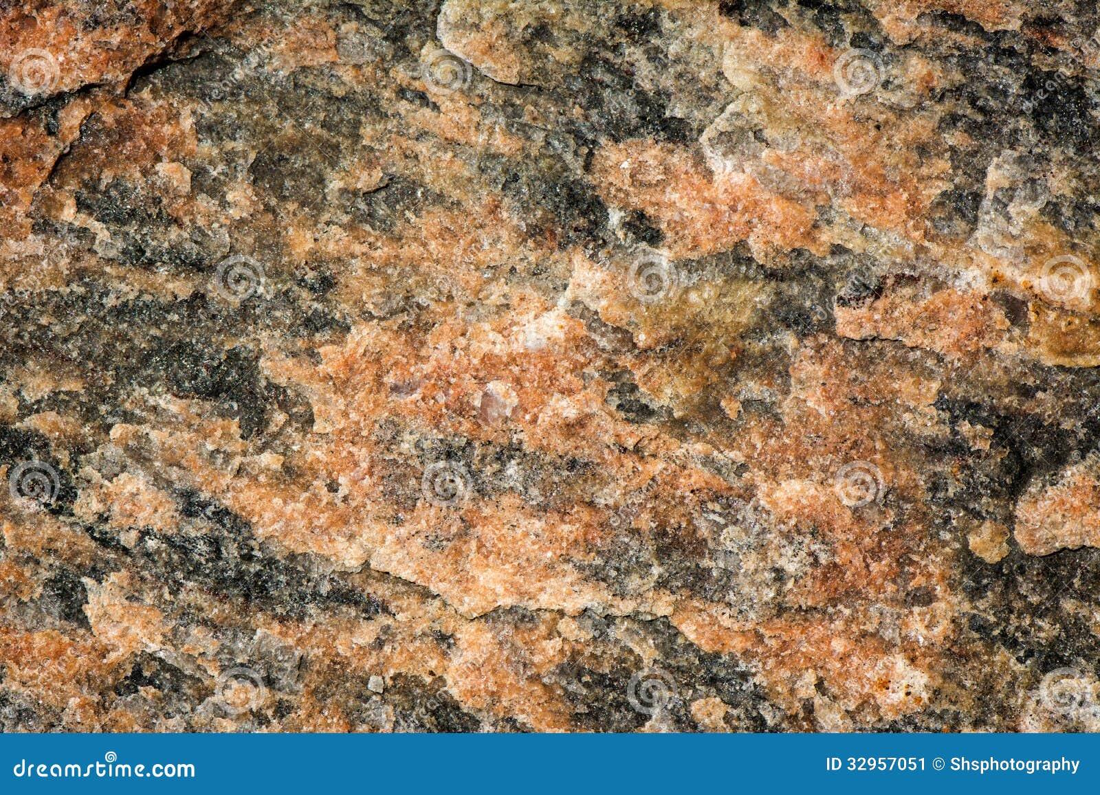 Red And Black Granite : Red black mottled granite stock image