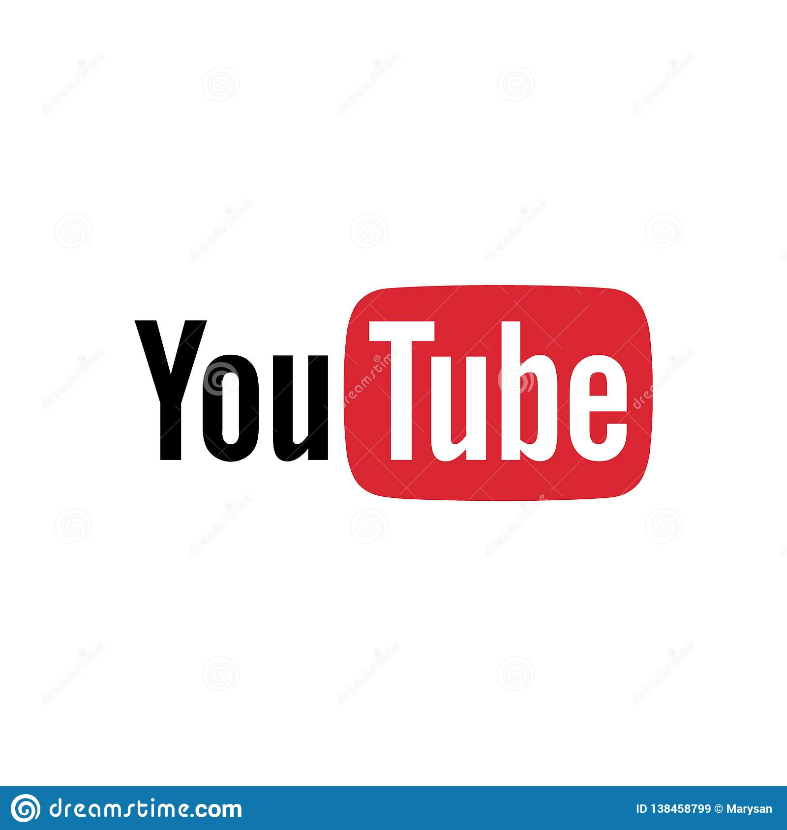 Red And Black Play Button Youtube Icon Vector Editorial ...