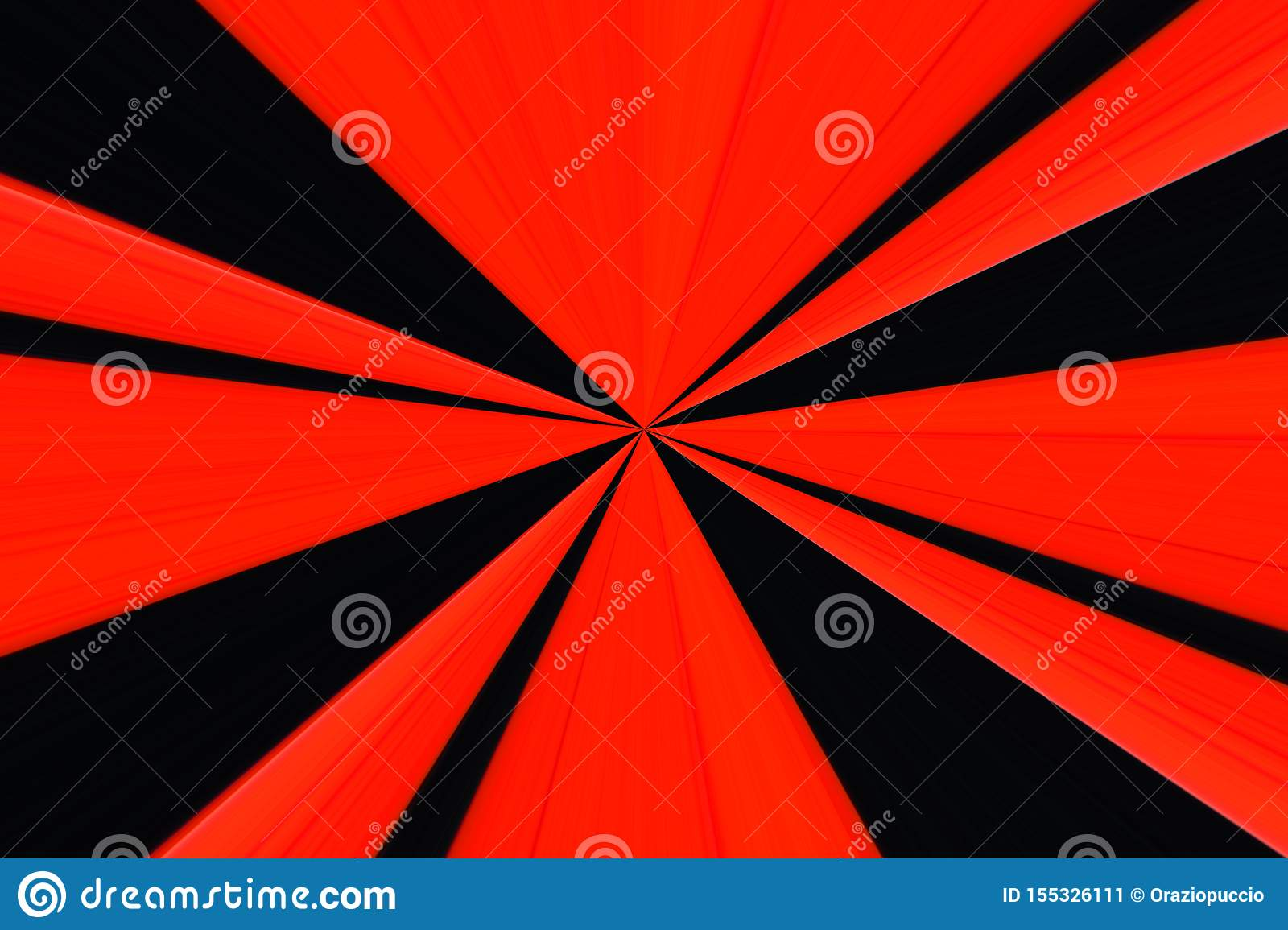 Red And Black Radial Wallpaper Stock Illustration Illustration